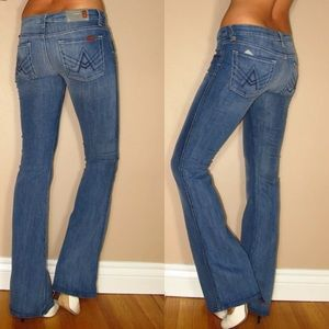 7 For All Mankind Flare Jeans 27 Medium Vintage